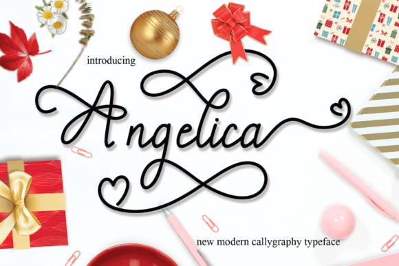 Print on Demand: Angelica Script & Handwritten Font By yasirstudio91