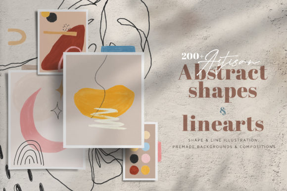 Print on Demand: Artisan Abstract Shapes & Line Art Graphic Illustrations By Blue Robin Design Shop