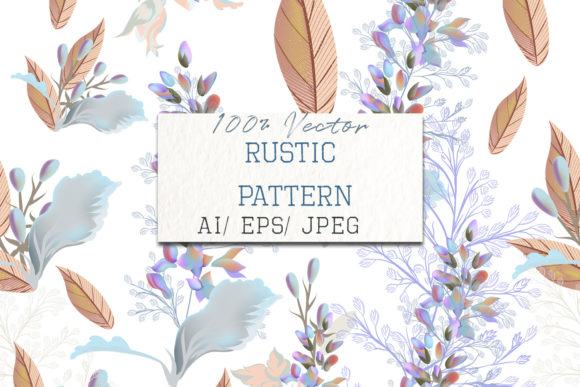Beautiful Elegant Pattern with Flowers Graphic Patterns By fleurartmariia