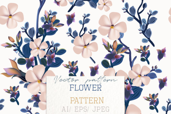 Beautiful Vintage Vector Pattern Flowers Graphic Patterns By fleurartmariia