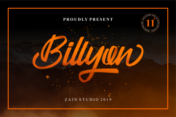 Print on Demand: Billyon Script & Handwritten Font By zainstudio