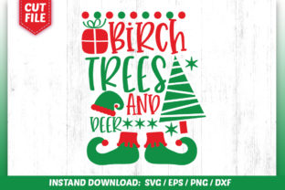 Download Free Birch Trees And Deer Svg Design Graphic By Subornastudio for Cricut Explore, Silhouette and other cutting machines.