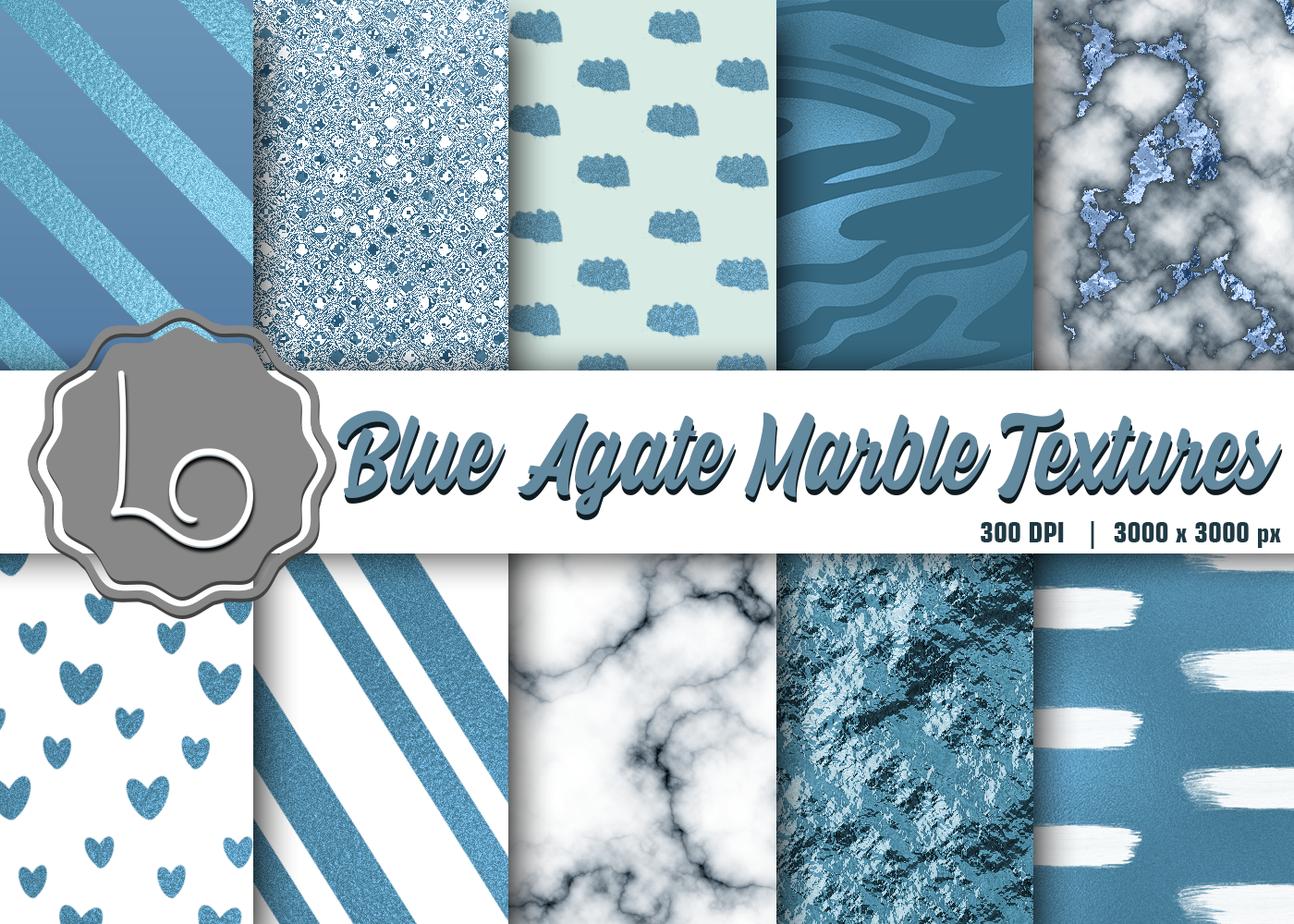 Blue Agate Marble Textures Graphic By La Oliveira Creative Fabrica