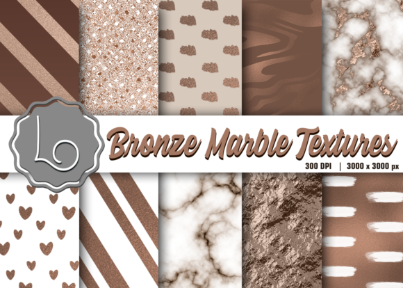 Print on Demand: Bronze Marble Textures Graphic Textures By La Oliveira