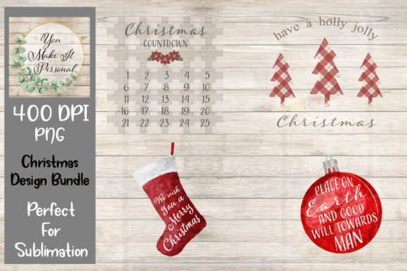 Download Free Christmas Bundle Great For Sublimation Graphic By You Make It SVG Cut Files