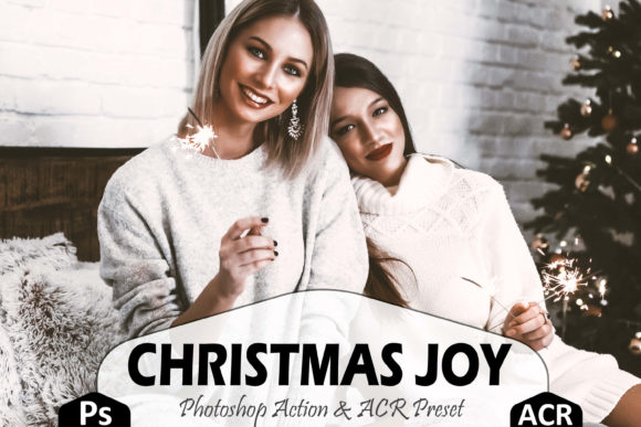 Print on Demand: Christmas Joy Photoshop Actions and ACR Graphic Actions & Presets By Mattte Studio