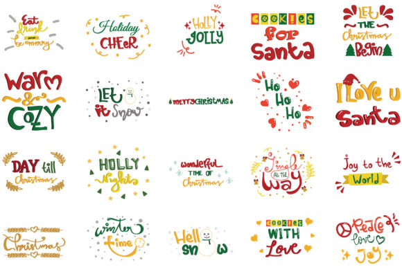 Download Free Christmas Quotes Set Graphic By Wienscollection Creative Fabrica SVG Cut Files