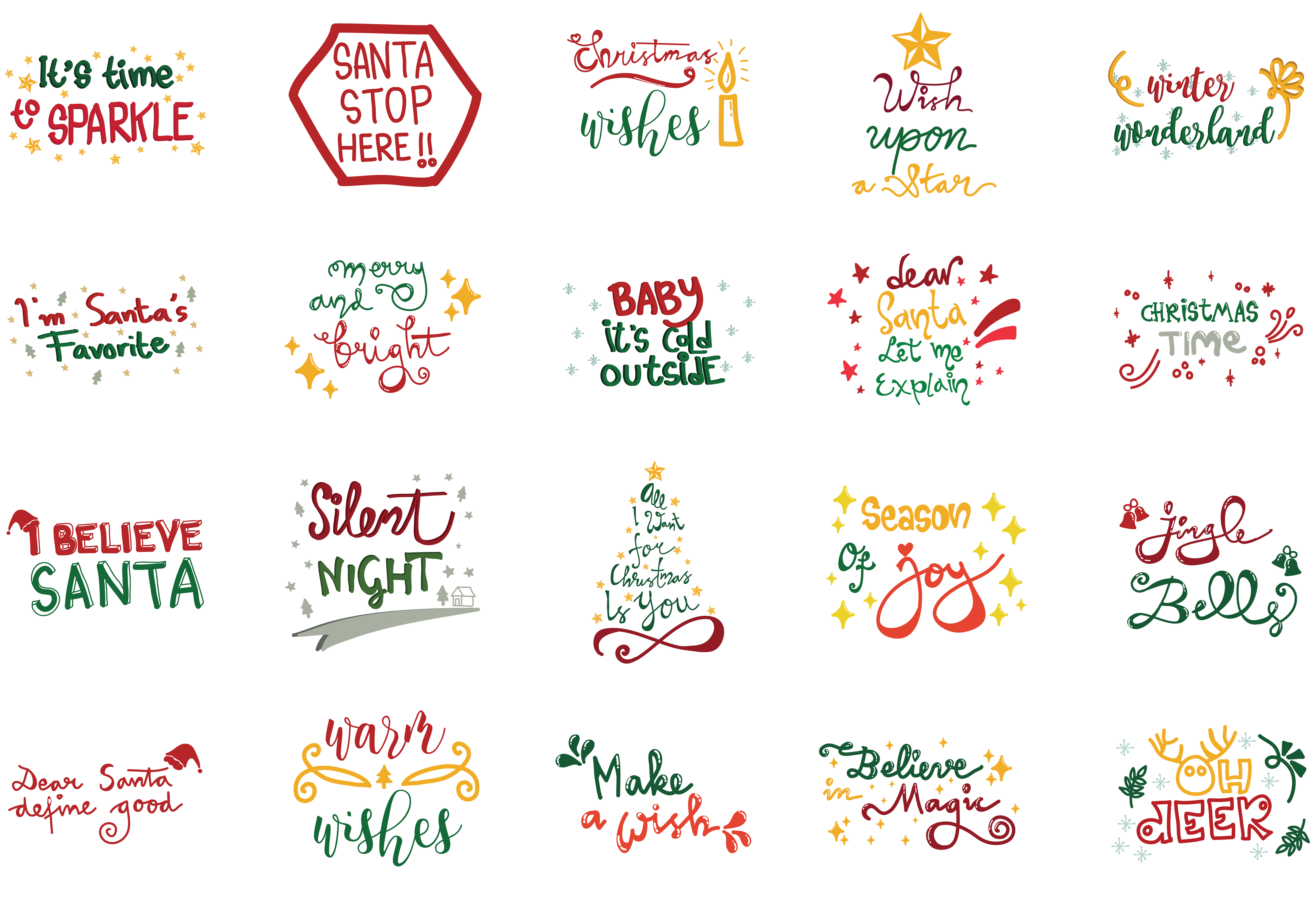 Download Free Christmas Quotes Set Grafico Por Wienscollection Creative Fabrica for Cricut Explore, Silhouette and other cutting machines.