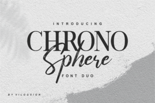 Print on Demand: Chrono Sphere Duo Serif Font By Vilogsign
