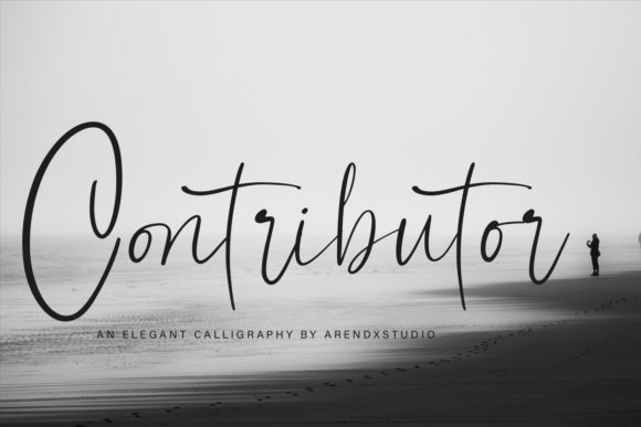 Print on Demand: Contributor Script & Handwritten Font By Arendxstudio