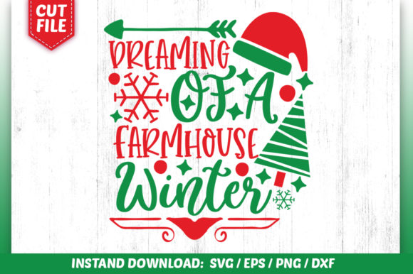 Download Free Dreaming Of A Farmhouse Winter Svg Graphic By Subornastudio for Cricut Explore, Silhouette and other cutting machines.