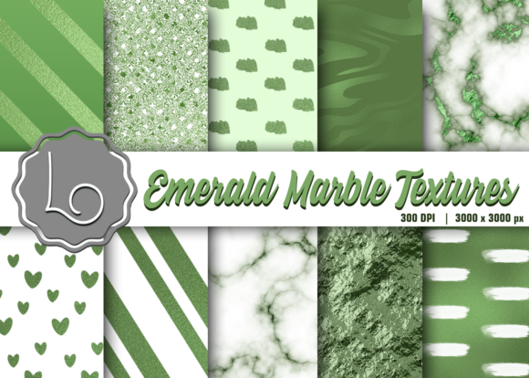 Print on Demand: Emerald Marble Textures Graphic Textures By La Oliveira
