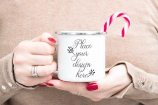 Download Free Enamel Mug Mockup Winter Christmas Graphic By Leo Flo Mockups for Cricut Explore, Silhouette and other cutting machines.