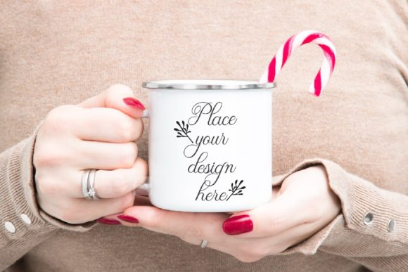 Enamel Mug Mockup Winter Christmas Graphic Product Mockups By Leo Flo Mockups