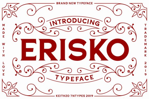 Print on Demand: Erisko Script & Handwritten Font By Keithzo (7NTypes)