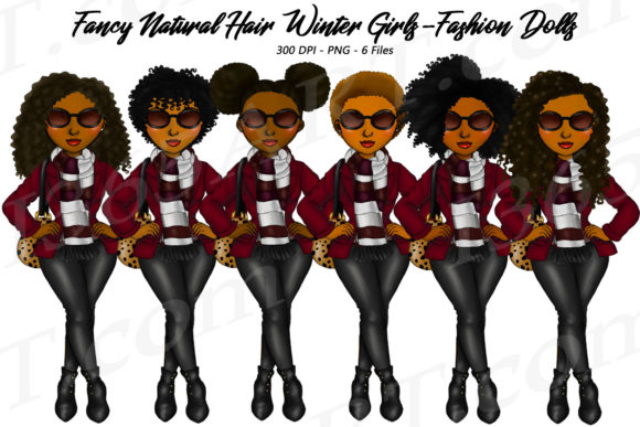 Fancy Winter Fashion Natural Clipart Graphic Illustrations By Deanna McRae