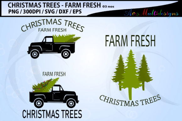 Print on Demand: Farm Fresh Christmas Tree Graphic Crafts By Arcs Multidesigns