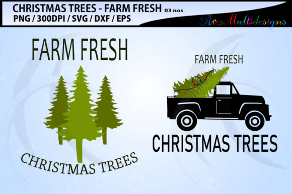 Download Free Farm Fresh Christmas Tree Graphic By Arcs Multidesigns for Cricut Explore, Silhouette and other cutting machines.