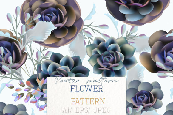 Fashion Vector Pattern with Succulent Graphic Patterns By fleurartmariia