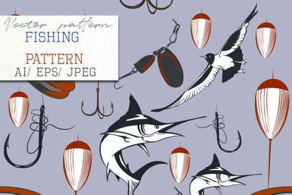Fish Vector Hand Drawn Pattern Marlin Graphic Patterns By fleurartmariia