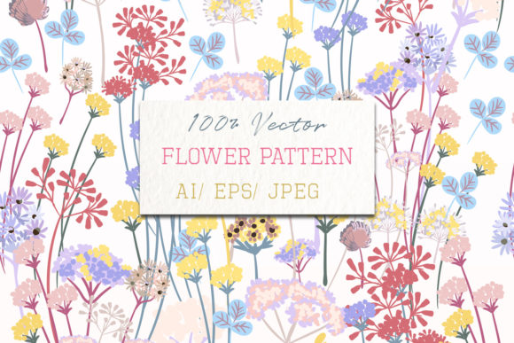 Floral Pattern Plants in Rustic Style Graphic Patterns By fleurartmariia
