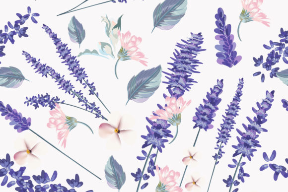 Floral Seamless Pattern  Spring Lavender Graphic Patterns By fleurartmariia