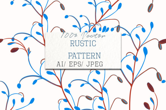 Floral Vector Pattern Rustic Flowers Graphic Patterns By fleurartmariia