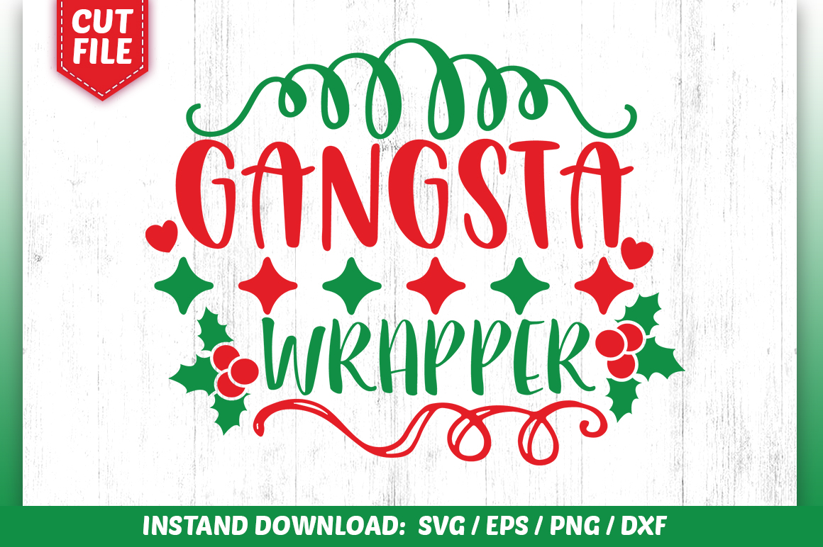 Download Free Gangsta Wrapper Svg Design Graphic By Subornastudio Creative for Cricut Explore, Silhouette and other cutting machines.