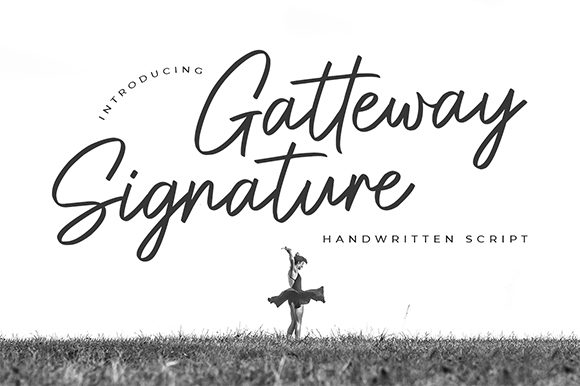 Print on Demand: Gatteway Script & Handwritten Font By Bluestype Studio
