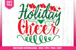 Download Free Holiday Cheer Design Graphic By Subornastudio Creative Fabrica for Cricut Explore, Silhouette and other cutting machines.