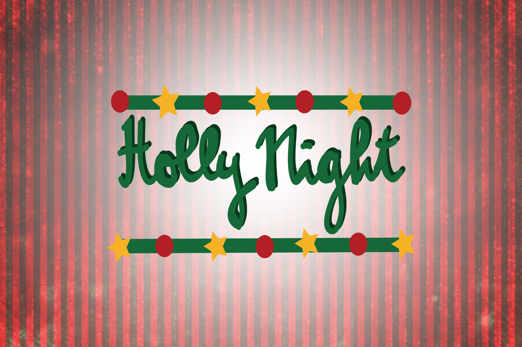 Download Free Holly Night Christmas Quotes Graphic By Wienscollection for Cricut Explore, Silhouette and other cutting machines.