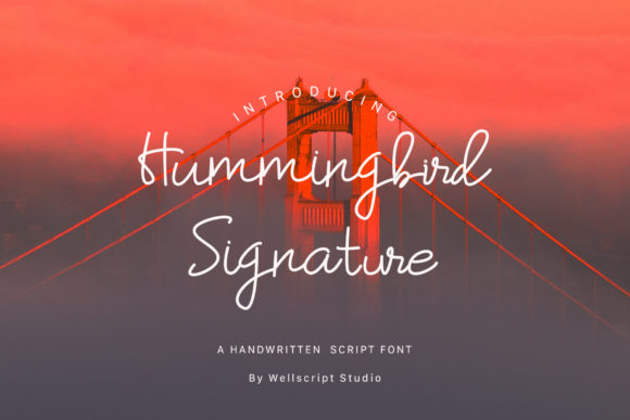 Print on Demand: Hummingbird Script & Handwritten Font By wellscriptstudio