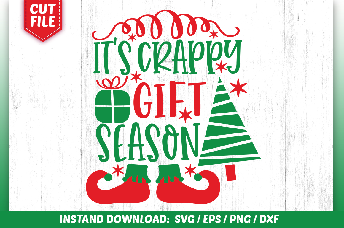 Download Free Its Crappy Gift Season Svg Design Graphic By Subornastudio for Cricut Explore, Silhouette and other cutting machines.