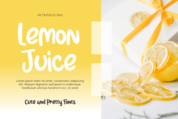 Print on Demand: Lemon Juice Script & Handwritten Font By studioashshiddiq