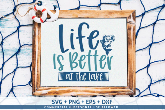 Download Free Life Is Better At The Lake Svg Graphic By Subornastudio SVG Cut Files