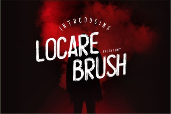 Print on Demand: Locare Brush Display Font By Miftah Locare