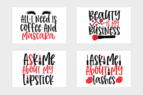 Download Free Makeup Design Bundle Graphic By Subornastudio Creative Fabrica for Cricut Explore, Silhouette and other cutting machines.