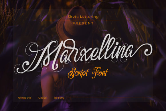 Print on Demand: Marxellina Script & Handwritten Font By Skets Lettering