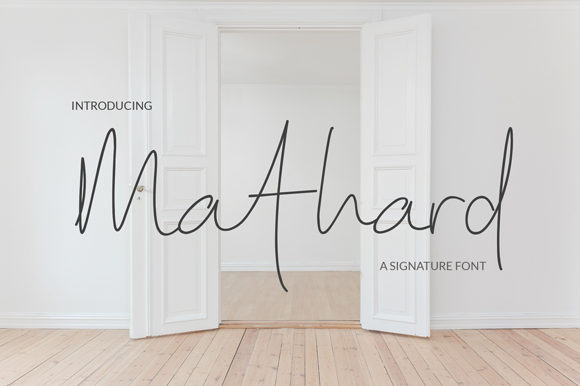 Print on Demand: Mathard Script & Handwritten Font By Eurus Ninetynine