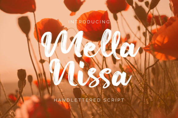 Print on Demand: Mella Nissa Script & Handwritten Font By studioashshiddiq