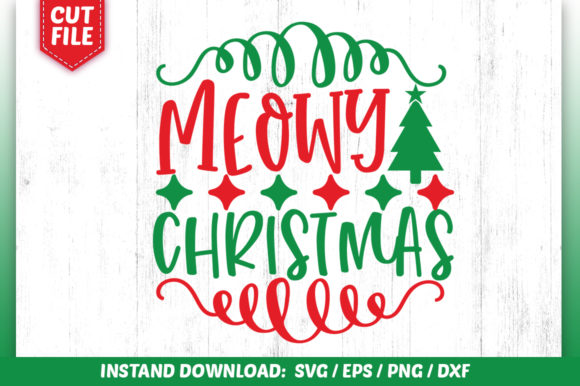 Download Free Meowy Christmas Svg Dsign Graphic By Subornastudio Creative for Cricut Explore, Silhouette and other cutting machines.