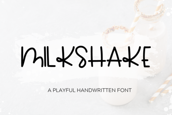 Print on Demand: Milkshake Script & Handwritten Font By WritingRivers