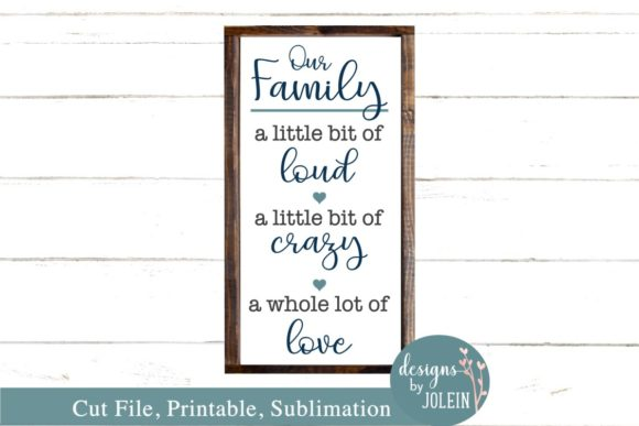Download Free Our Family Graphic By Designs By Jolein Creative Fabrica for Cricut Explore, Silhouette and other cutting machines.
