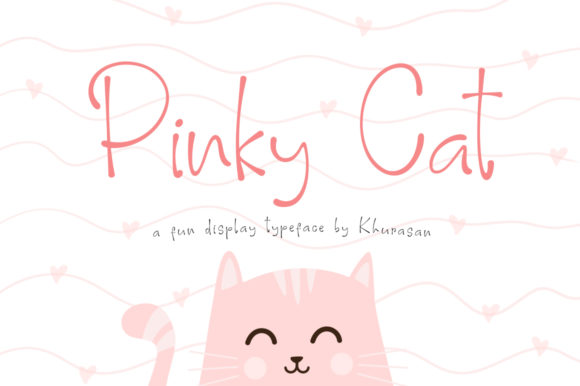 Print on Demand: Pinky Cat Display Font By Khurasan - Image 1