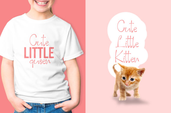 Print on Demand: Pinky Cat Display Font By Khurasan - Image 2