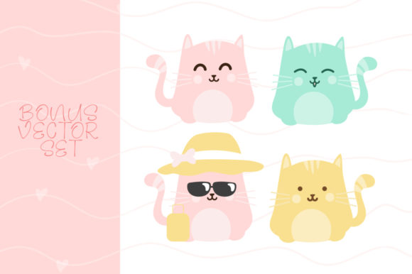 Print on Demand: Pinky Cat Display Font By Khurasan - Image 6