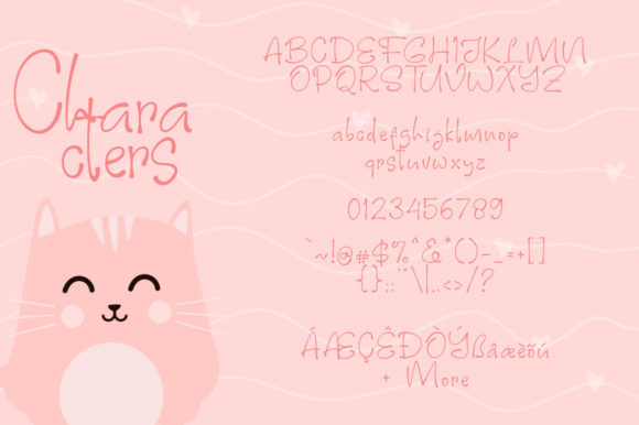 Print on Demand: Pinky Cat Display Font By Khurasan - Image 7