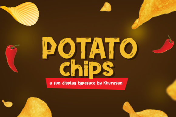 Print on Demand: Potato Chips Display Font By Khurasan
