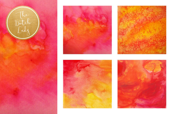 Print on Demand: Red Watercolor Scrapbook Papers Graphic Backgrounds By daphnepopuliers - Image 2