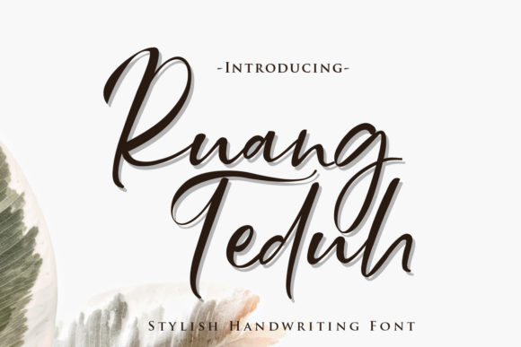 Print on Demand: Ruang Teduh Script & Handwritten Font By Gilar Studio